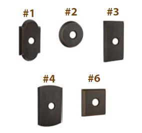 Emtek Sandcast Bronze Rosette Options